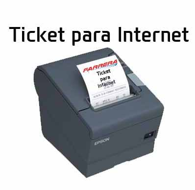 Ticket para Internet